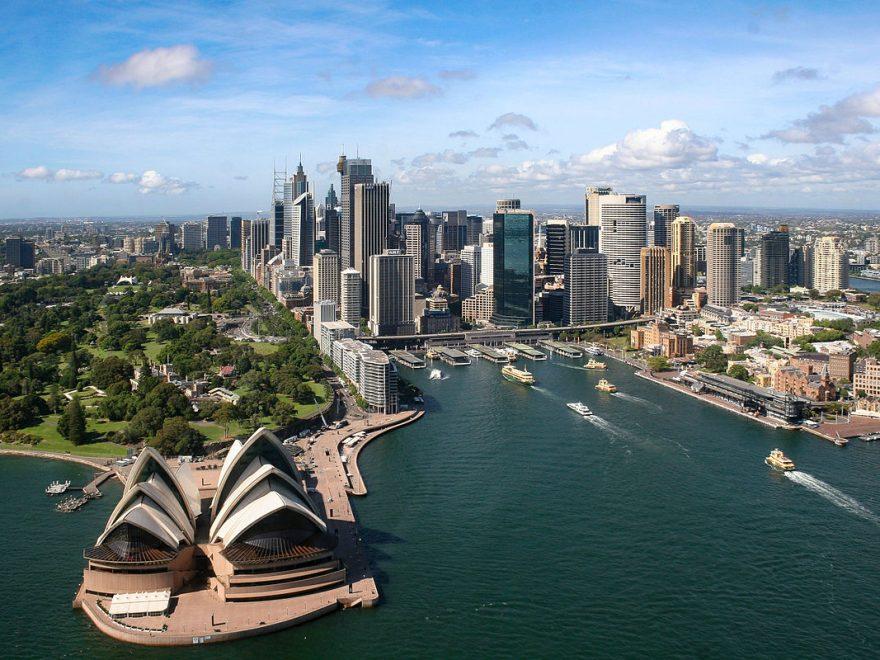 atterraggio a Sydney muovere i primi passi in Australia