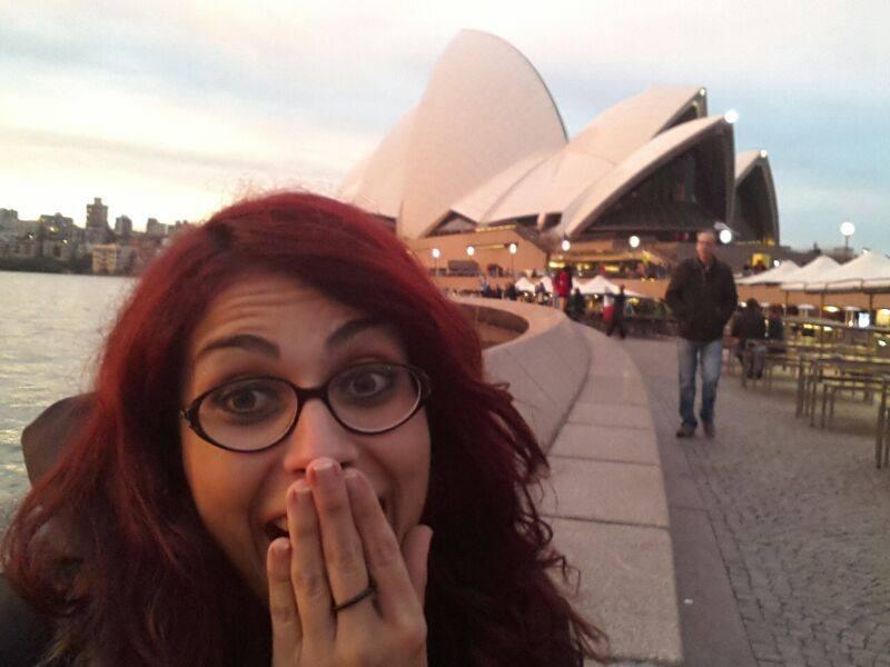 La mia sorpresa e felicità davanti alla Sydney Opera House