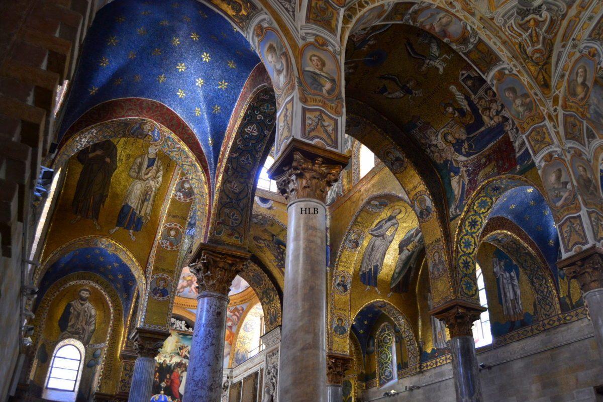 volte archi architettura colori chiesa della Martorana