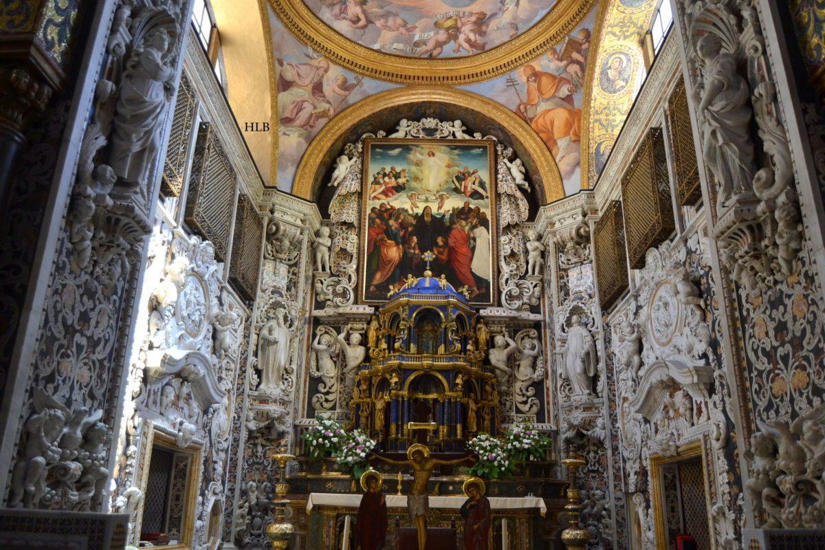 abside marmi barocco chiesa