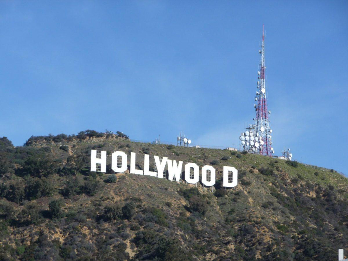 Insegna di Hollywood sulla collina