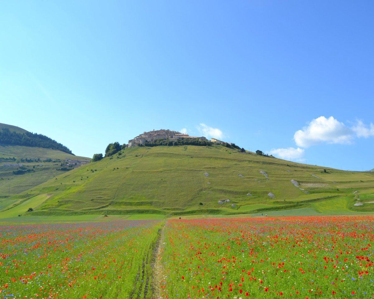 Montagnetta di Castelluccio che sorge