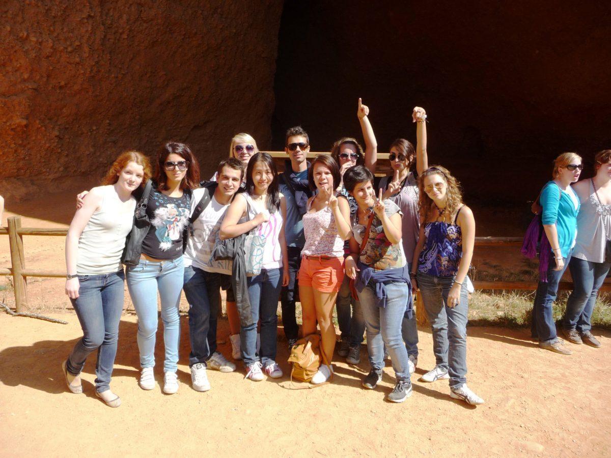 Las Medulas gruppo amici Spagna