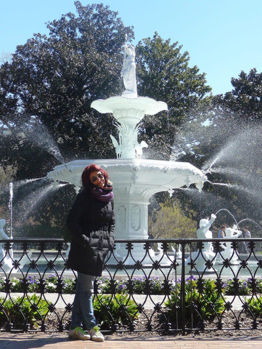 Piazza di Savannah con fontana