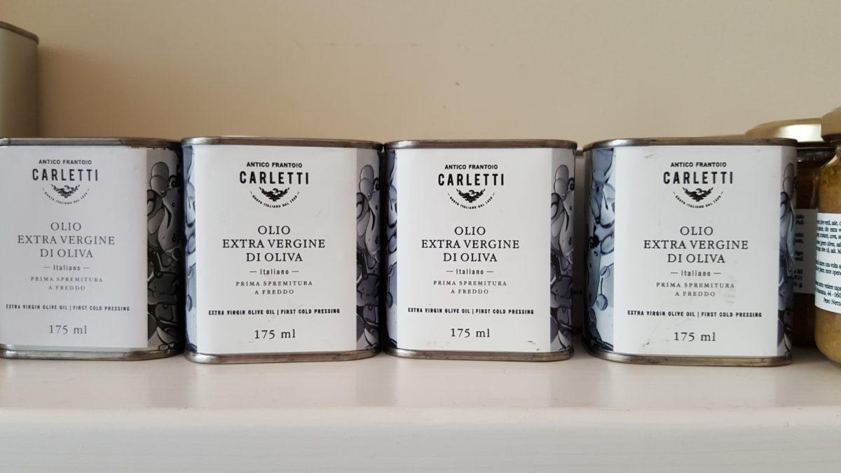 lattine olio evo Antico Frantoio Carletti