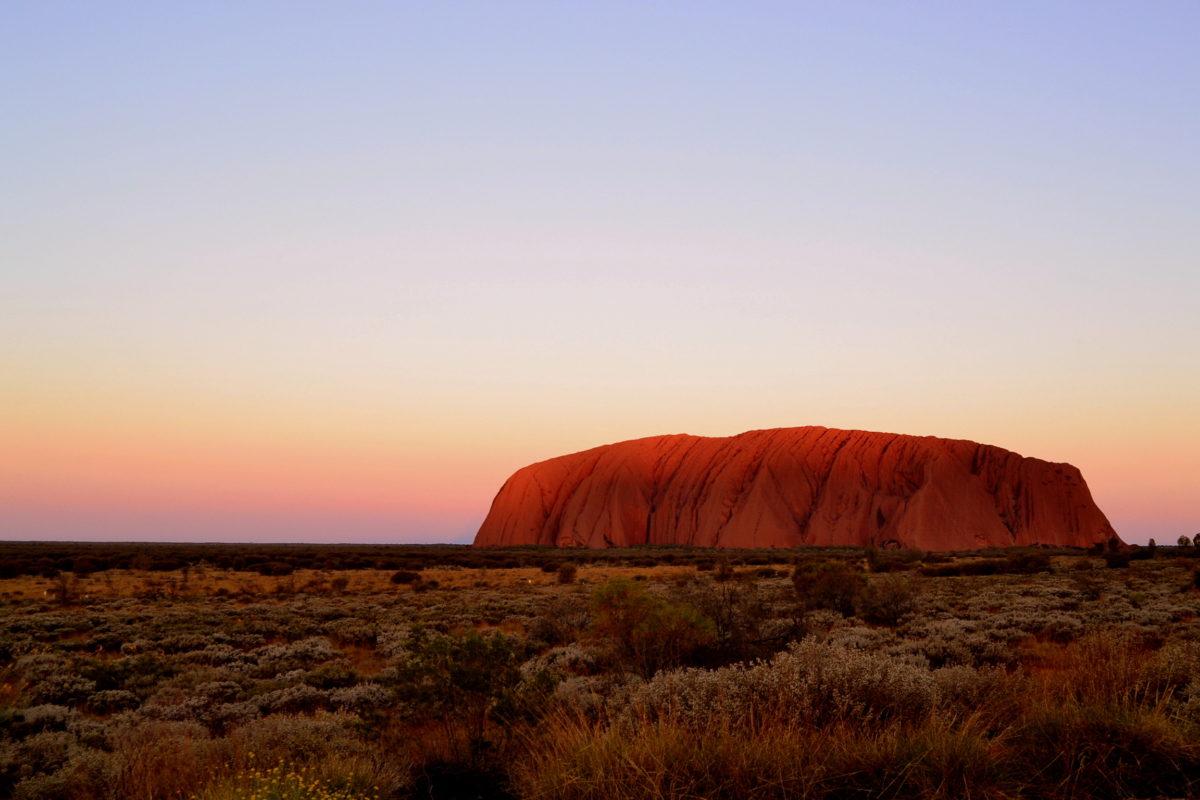 Uluru tramonto come arrivare Australia