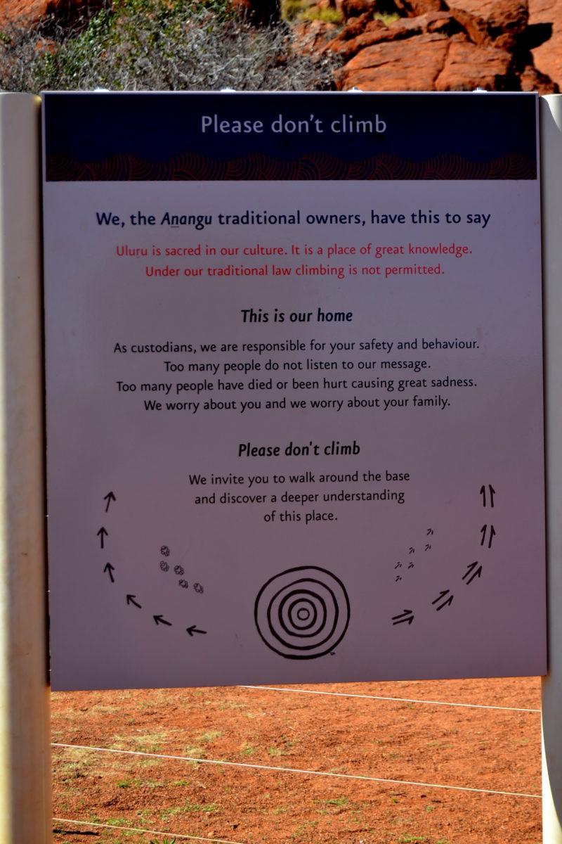 Non salire su Uluru classifica Australia