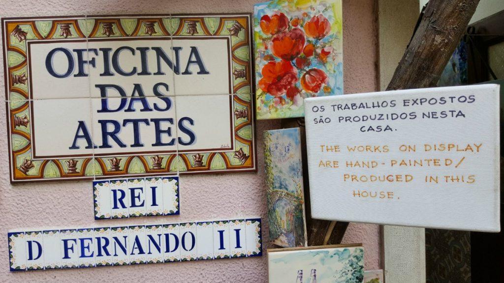 artigiano handmade cosa fare vedere visitare dintorni Lisbona Walk Border on the road meteo Portogallo Lisbon