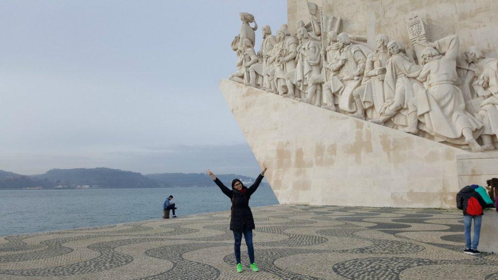 monumento viaggio architettura cosa fare vedere visitare dintorni Lisbona Walk Border on the road meteo Portogallo Lisbon